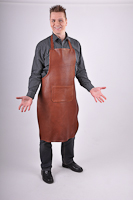 Leather Apron Prestige Kangaroo , L, chestnut