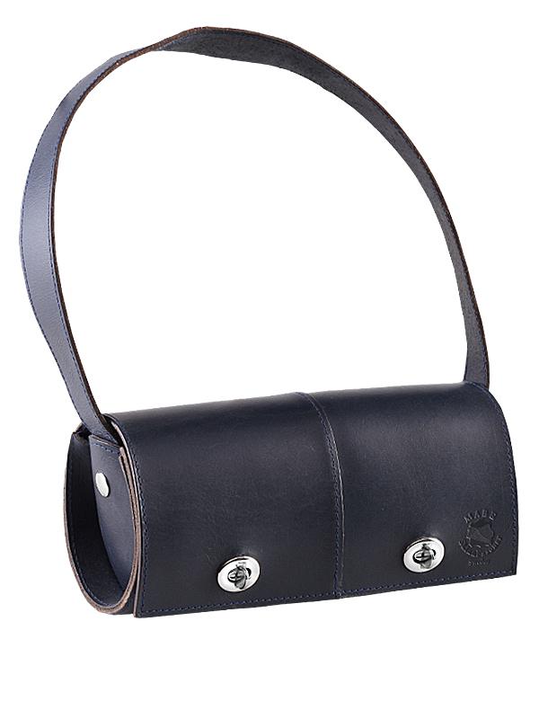 svart tub väska med vridlås skinn
