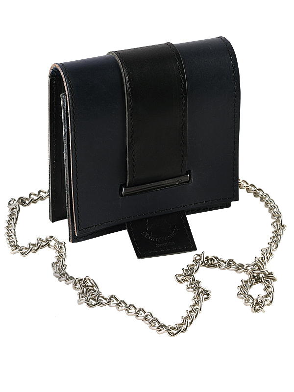 Bag in leather, black
