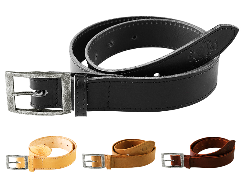 Leather Belt G antique silver