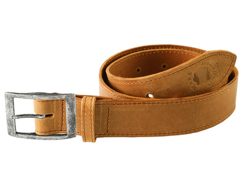Läderbälte G antik silver 3cm bredd hos Skinnhantverkarna