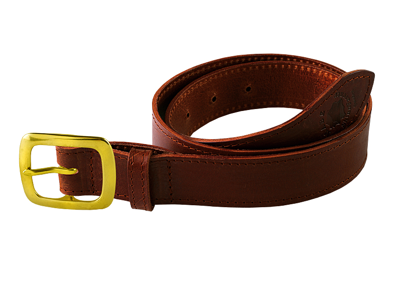 Leather belt C brass