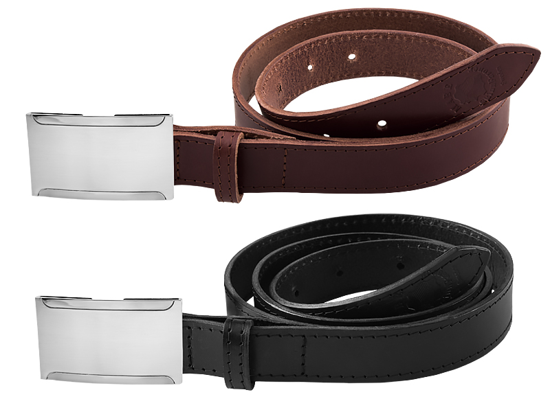 Leather belt N nickel free with card holder