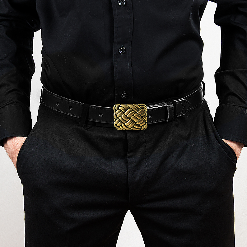 Leather belt E