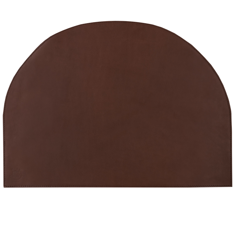 Deskpad crescent Cognac Dark brown