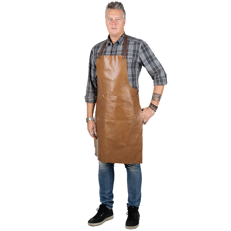 Leather apron Gemini Cognac