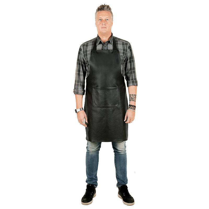 Leather Apron Prestige Kangaroo , L , black