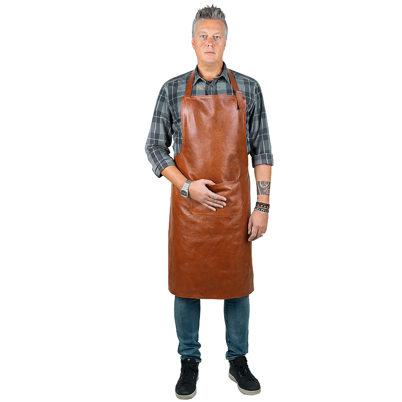 Leather apron Prestige kangaroo with adjustable neck strap M