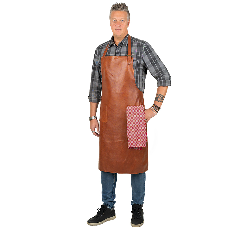 Leather apron Prestige Sleifi with adjustable neck strap M