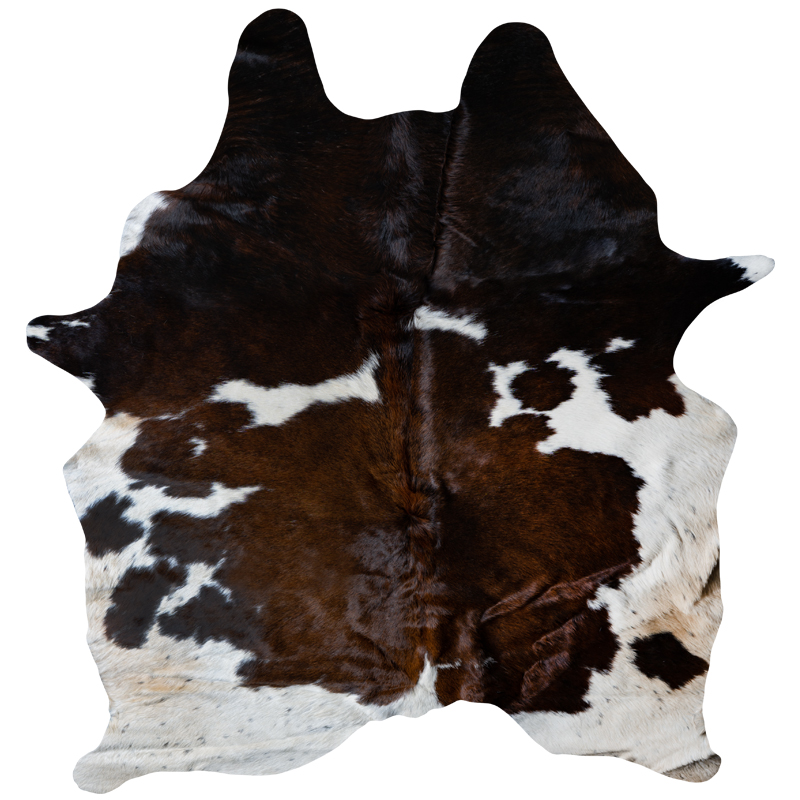 Cowhide brown - white mix 2