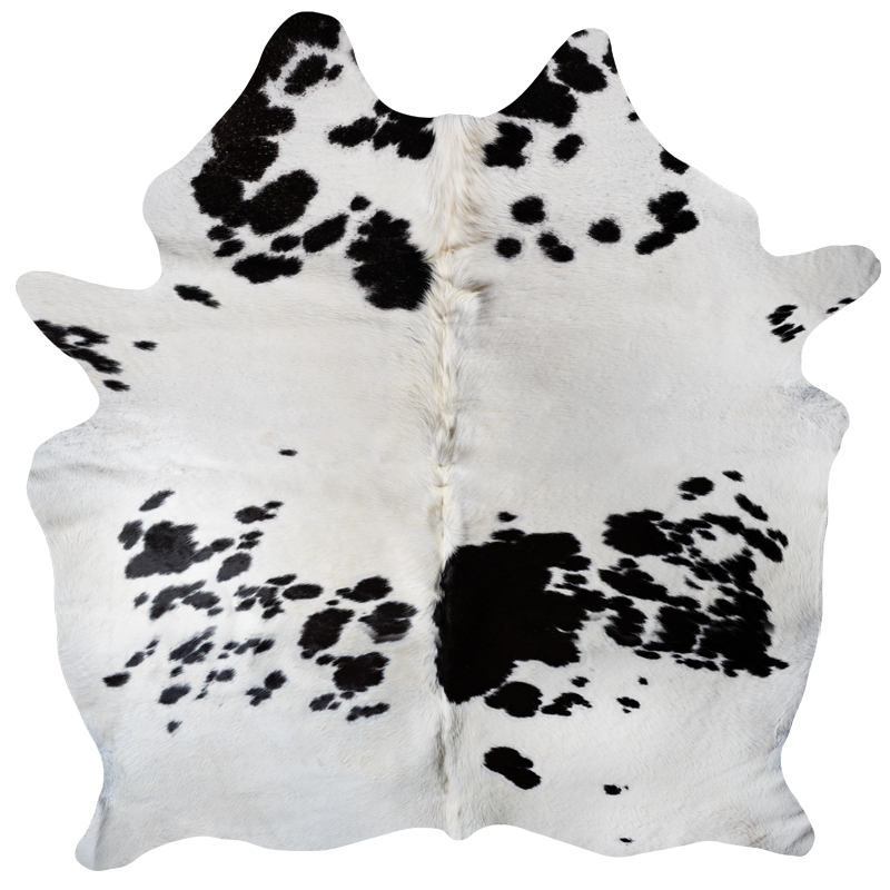 Cowhide white with spots 2
