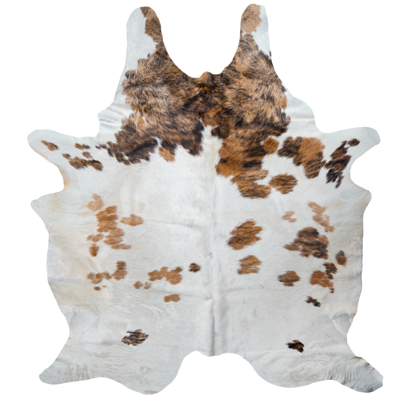 Cowhide brown - white pattern