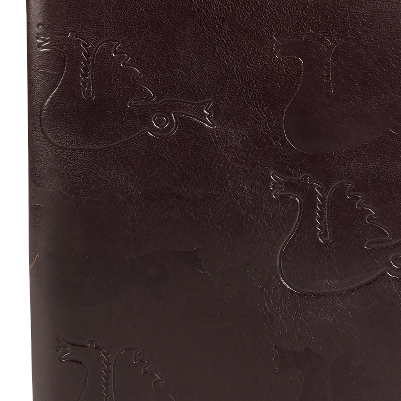 Book cover in leather Dragon Mahogny Medium