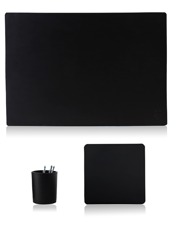 Desktop set standard black 70x50cm