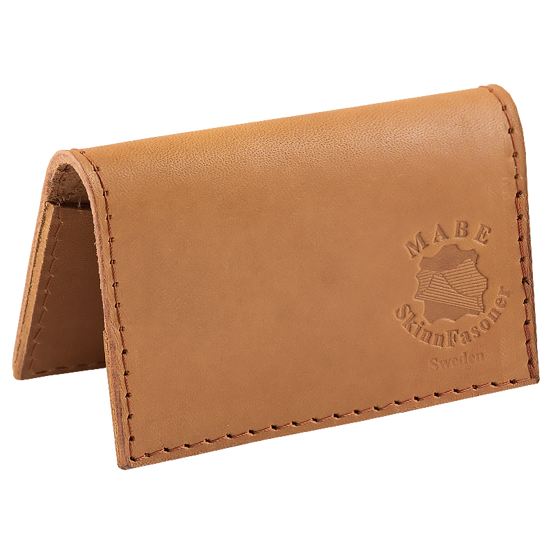Card Holder in real leather Cognac