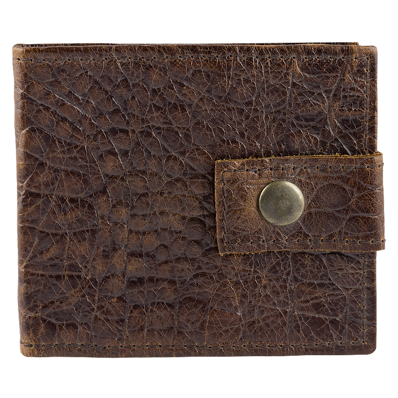 Card holder Kroko in real leather