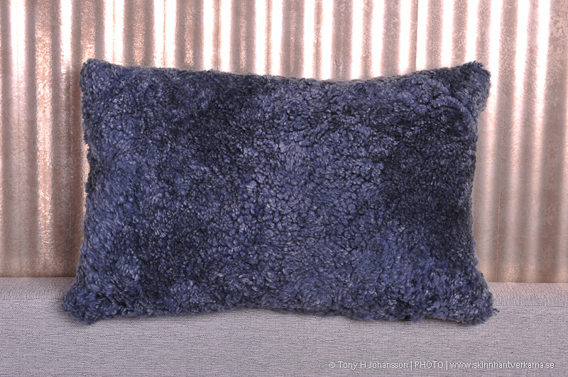 Lambskin pillow, gray