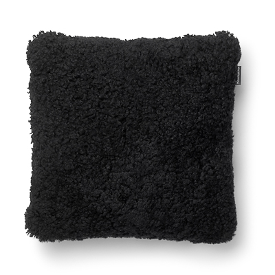 Lambskin pillow, black