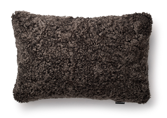 Lambskin pillow, brown
