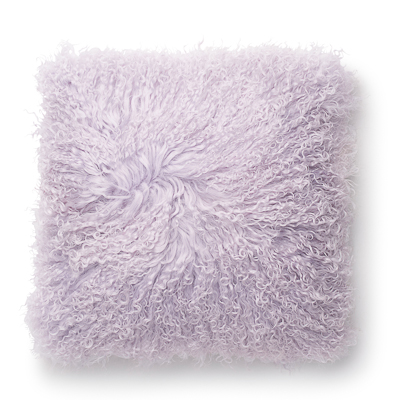 Lambskin pillow, lavender