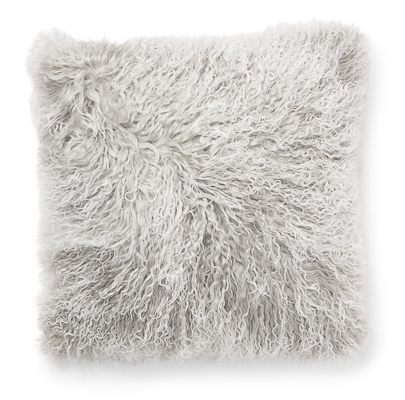 Lambskin pillow, light gray