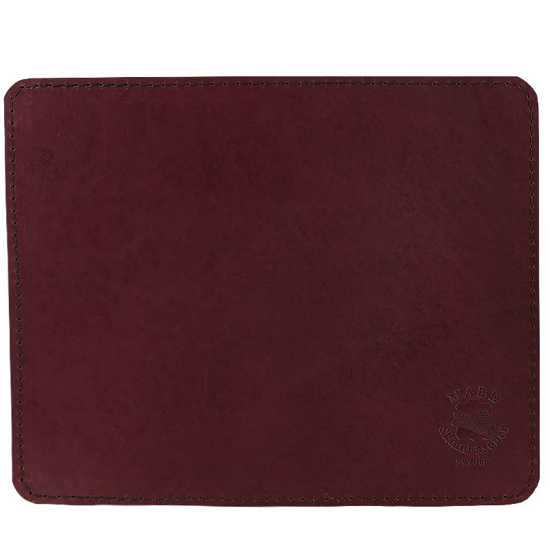 Mouse pad in leather