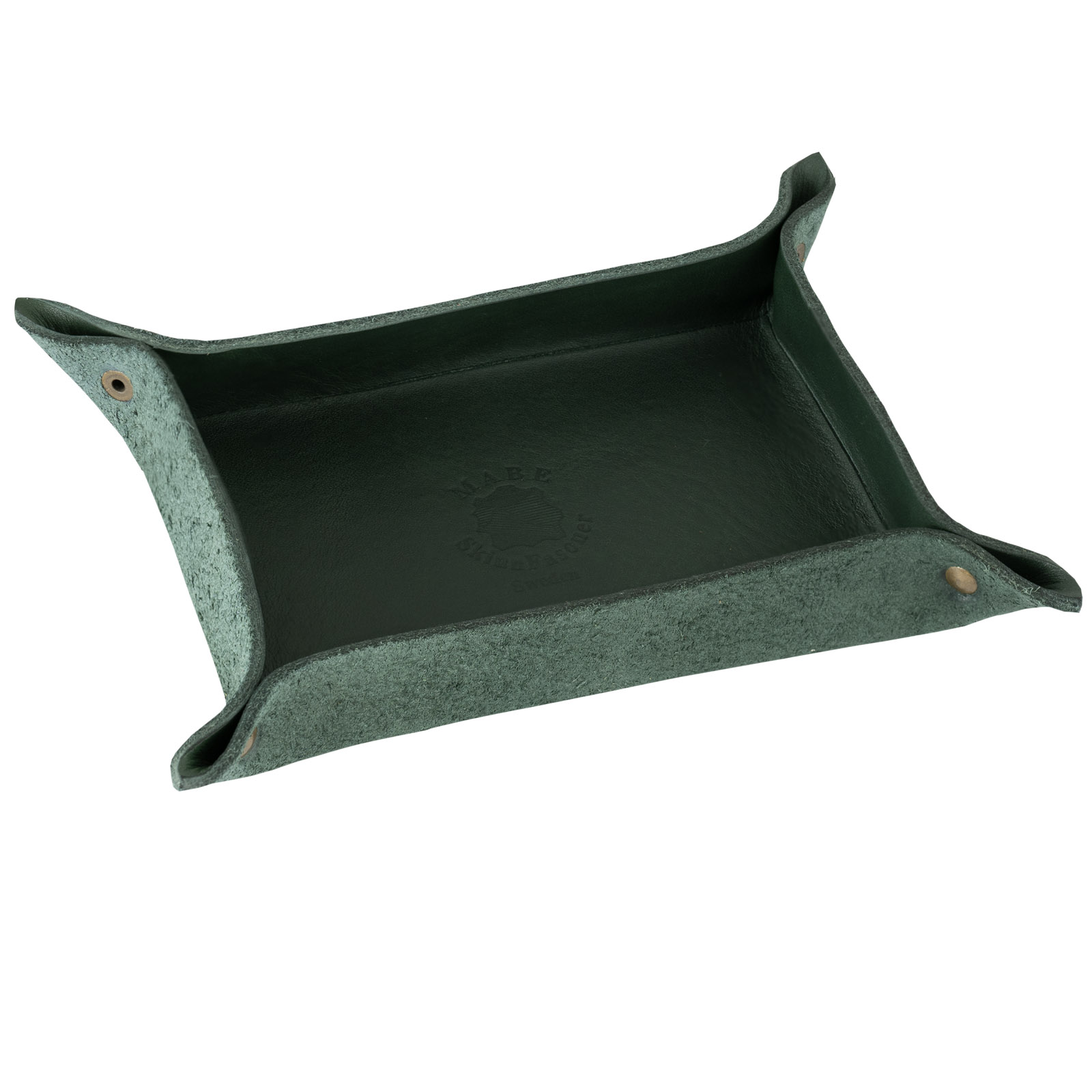 Leather tray green