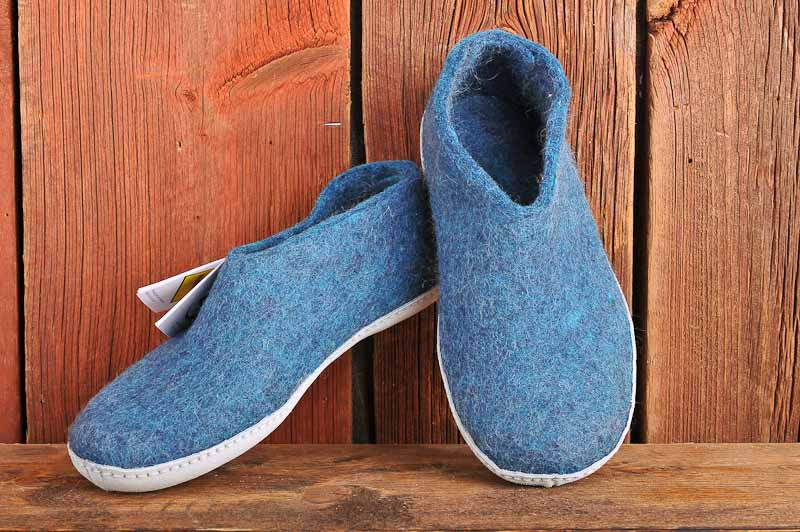 Felt shoe of 100% pure natural wool, 39