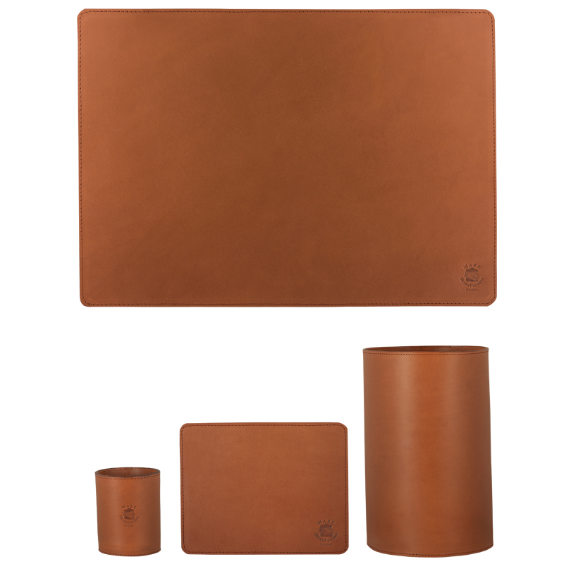 Desktop set regular deluxe Cognac