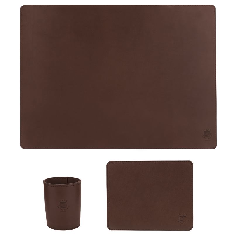 Desktop set Regular Dark brown
