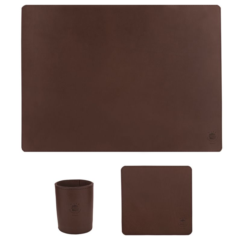Desktop set standard dark brown