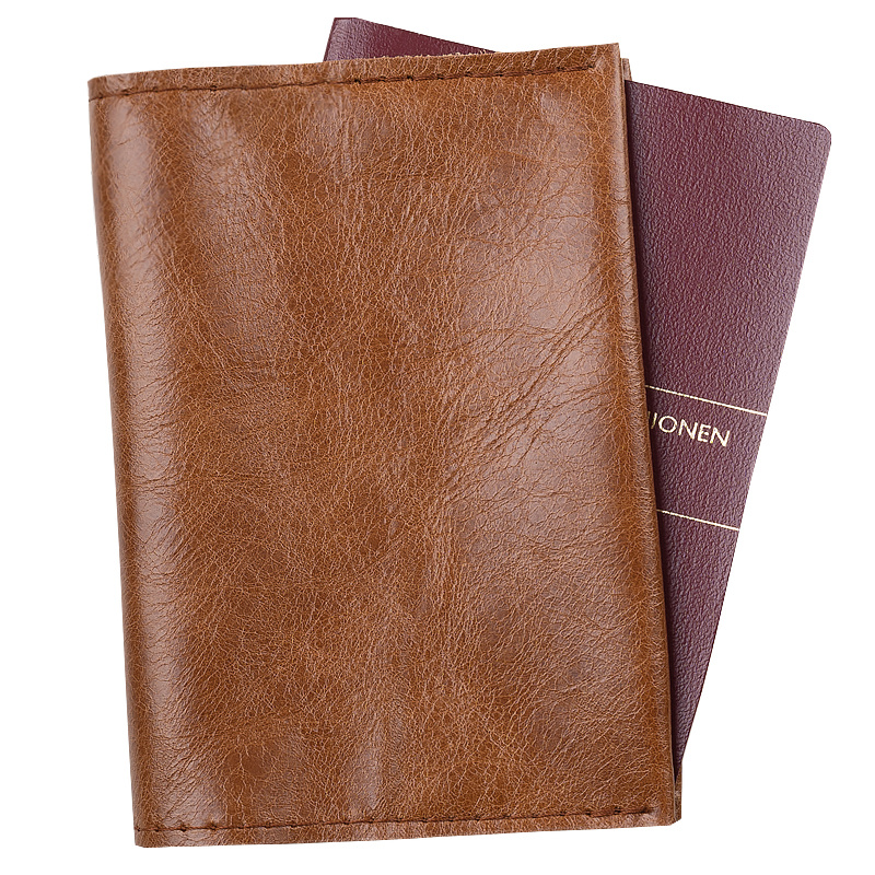 Passport holder Cognac